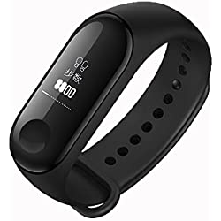 Mi Original Xiaomi Band 3 Smart Bracelet Heart Rate Monitor 0.78 OLED Display 50M Waterproof Fitness Tracker for ios,Android -Balck