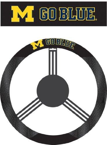 Fremont Die NCAA Michigan Wolverines Polysuede Steering Wheel Cover
