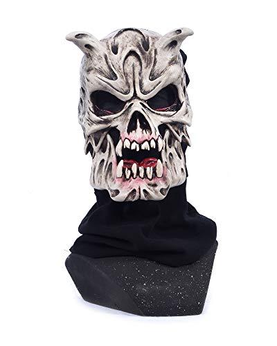 Zagone Studios Super Skull Collector Latex Mask from Be Something Studios White Red ()