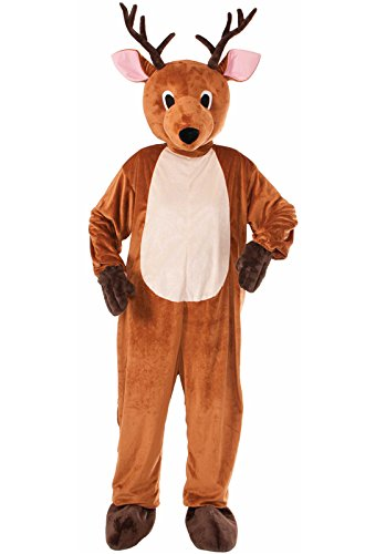 Forum Novelties Men's Reindeer Plush Mascot Costume, Brown,