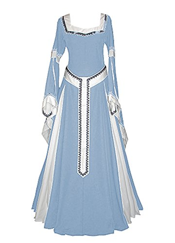 Misassy Womens Medieval Dress Renaissance Costumes Irish Over