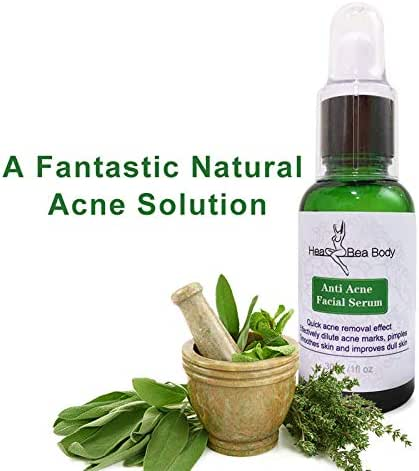 Natural Acne treatment serum Effective in 3 days Pure plant essence oil-use as pimples, spots, scar removal fight breakouts and blemishes, signs of aging for a clean and clear complexion
