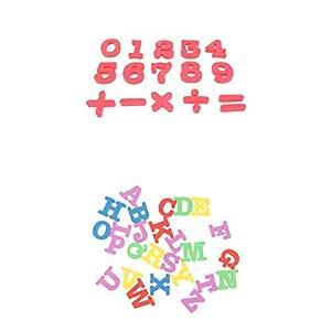 perfeclan 26pcs EVA Magnetic Alphabet + Numbers Set Imán De Nevera ...