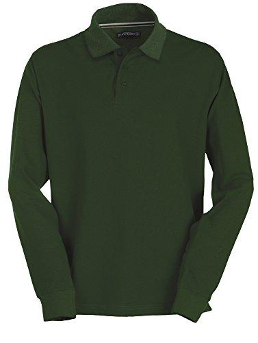 Polo Maniche A Uomo 3 Da 100 Verde Lunghe Cotone nbsp;bottoni n7xr7Hq4