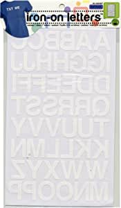 Dritz Iron-On Letters 1 Inch Block, White