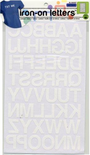 Dritz BL100HWT Iron-on Letters, Soft Flock, Block, 1-Inch, White (1-Sheet)]()