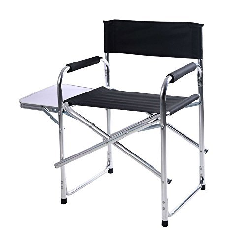 New Aluminum Folding Director's Chair with Side Table Camping Traveling by Unknown