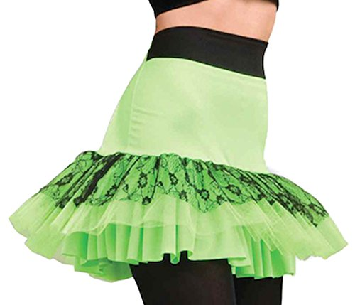 Forum Novelties Women's 80's To The Maxx Let's Have Fun Costume Skirt, Green, One size