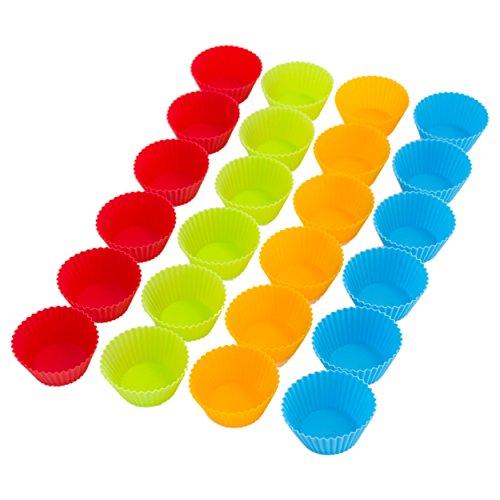 Muffinformen Muffinförmchen 24 Stück - in 4 Farben aus hochwertigem Silikon