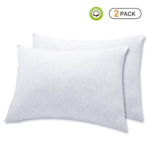 Organic Cotton Toddler Pillowcase/Travel Pillowcase Pack of 2 Set 13x18 Inches with Envelope Closure - Hypoallergenic, Soft & Breathable Baby Pillow Case Cover Solid Gray