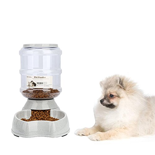 - Dog Food Dispenser,8.3lbs Automatic Pet Food Dispenser,Large Capacity Cat Feeder Food Station