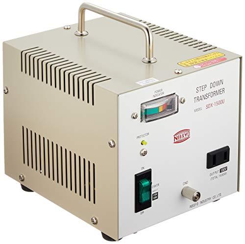 Nissyo 110/120V to 100V 1500W Step Down Voltage Transformer Converter for Jpanese product. SDX-1500U (Japan - 100v Transformer