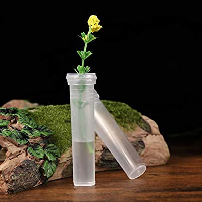 SUPVOX 50pcs Flower Water Tubes Plastic Transparent Container Floral Craft Supply Florist Supplies
