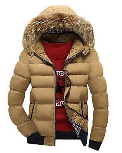 Con Esterno Da Uomo Kaki Winter Giacca Vintage Coat Pilot Jacket Windproof Cappuccio Parka ZzPUUxgq