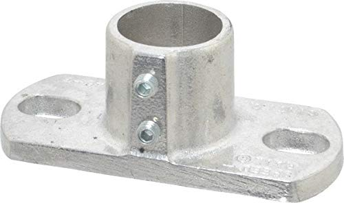 Hollaender - 1-1/4 Inch Pipe, Base Flange, Aluminum Alloy Pipe Rail Fitting