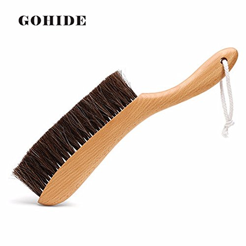 Gohide A Soft Cleaning Brush with Natural Solid Wood Handle and Natural Bristle Brush for Clothes Cleaning, Dust Hair, Sofa, Bed, Bedspread, Carpet Cleaning L:34.5cm, W:8.5cm, H:2.0cm (L) XCX by GOHIDE (Image #9)'
