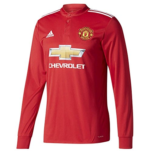 adidas Manchester United Long-Sleeve Home Shirt 2017/18-Large Adults