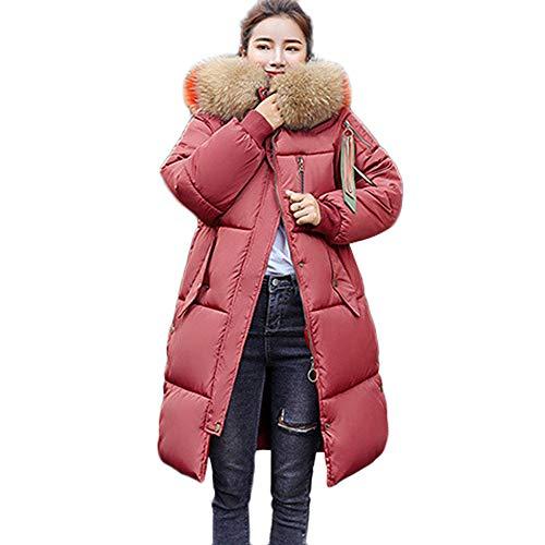 Eegant A Parka Reaso Femme Manteau Rouge Epaisse Pullover Down Jacket Veste Fourrure Casual Sweatshirt Hiver Longue Mi Chaud avec Capuche Fausse Doudoune Fashion Blouson W0BYqW