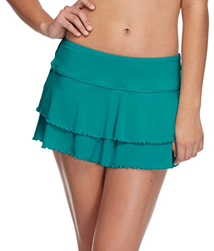 102023e60 Body Glove Women's Smoothies Lambada Solid Mesh Cover Up Skirt Swimsuit