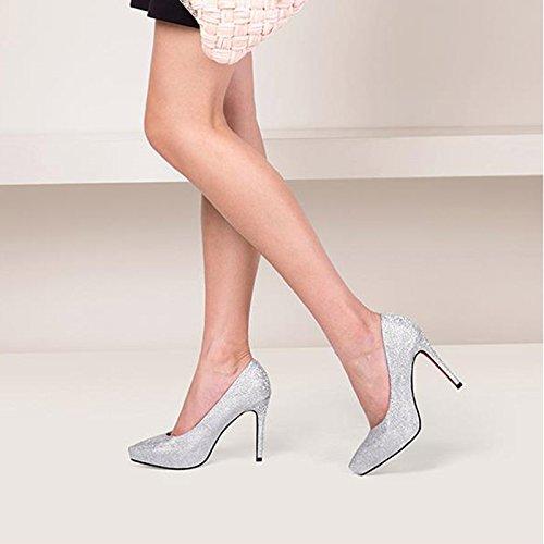 Barato JIANXIN Plataforma Impermeable Para Mujer De Primavera Y Verano De  Oro Y Zapatos De Tacón 7cb98bcb6869