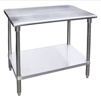 Amazoncom WORKTABLE Food Prep Work Table Restaurant Supply - Restaurant supply prep table
