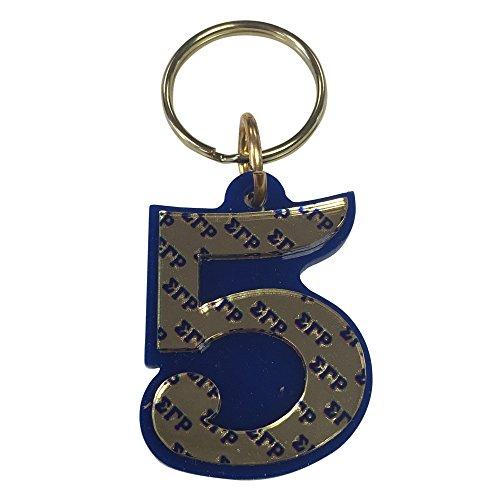 ine Number Acrylic Mirrored Decorative Keychain (Sigma Gamma Rho Keychain)