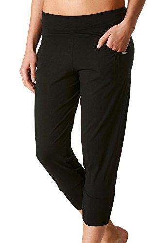 "Mey Lounge wear ""Mey salón"" para mujer Yoga pants 16324 negro (brillantes)"