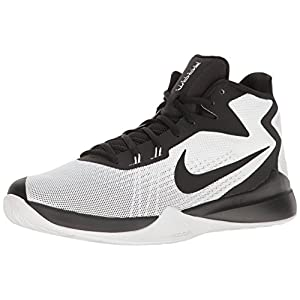 NIKE Men's Zoom Evidence Basketball Shoe, White/Black White, 11.5 D US