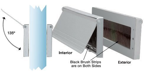 CRL Satin Anodized No-Draft 3 x 11-1/2 Mail Slot by C.R. Laurence