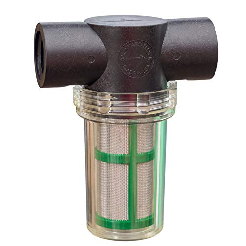 Backyard Flock in-line Strainer Water Filter, 100 Mesh Screen Element, ½ Female in/Out, PVC Fittings Included! (Made in USA) (Long Filter) by Backyard Flock