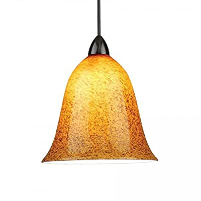 WAC Lighting LM-K592-AB/DB Solorail 4-Light Pendant Kit, Bronze with Amber Glass and Black Powder Frits