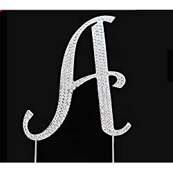 Rhinestone Cake Topper Letter A by other