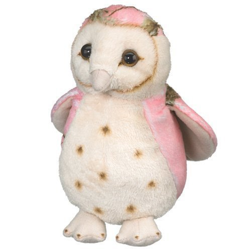 Pink-Owl-Toy-Bird-Plush-Stuffed-Animal-6-Inch-Camo-Wild-Wildlife-Artists