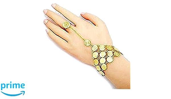 93b7c29322e0 18 k oro plateado islámico musulmán pulsera de monedas  Amazon.es  Hogar