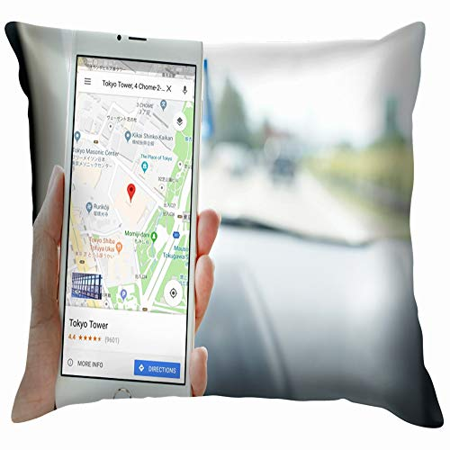 Penang Malaysia July 12 2017 Female Business Finance Google Transportation Throw Pillows Covers Accent Home Sofa Cushion Cover Pillowcase Gift Decorative 24X24 Inch