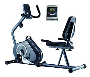 Endurance Recumbent Exercise Bike with 8kg Magnetic Flywheel, Wide Comfort Plus Seat and Heart Rate Monitor.