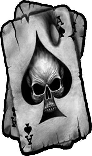 Crazy Discount Vinyl Sticker Decal Skull ace of Spades Motorcycle Helmet Chopper Biker Bumper 3 x 5 inch
