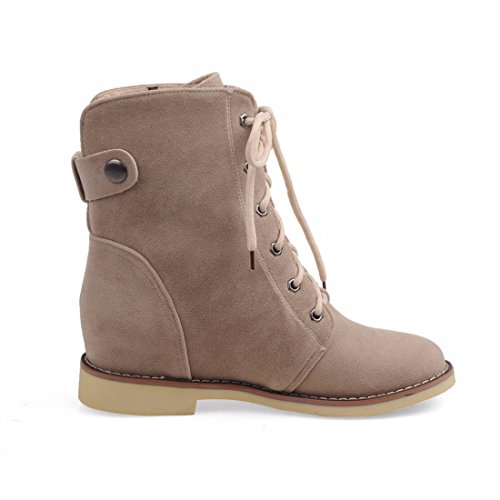 heeled increased winter Women's boots boots RFF end Beige Dichotomanthes and scrub female low boots Martin Shoes Autumn x6qIqB7