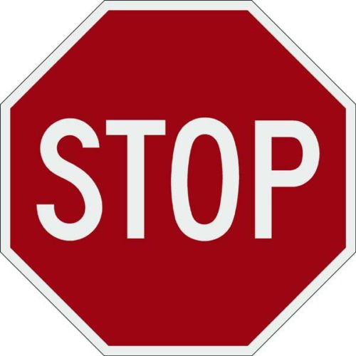 Tapco R1-1 Engineer Grade Prismatic Octagon Standard Traffic Sign, Legend ''STOP'', 24'' Width x 24'' Height, Red on White