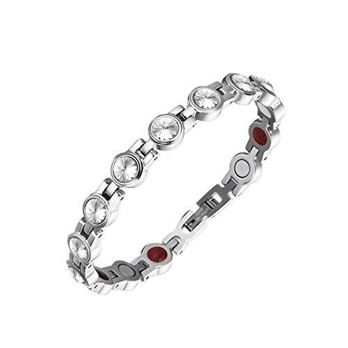 Moocare Elegant Ladies Health Magnetic Therapy Bracelets with Swarovski Element Crystal