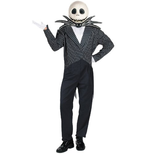 Jack Skellington Adult Halloween Costume, XL -