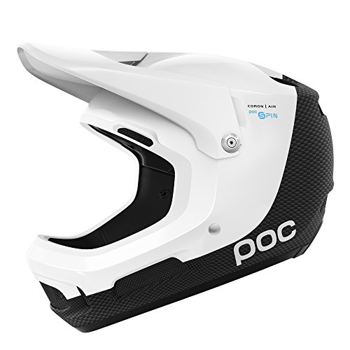 POC - Coron Air Carbon SPIN, Helmet for Mountain Biking, Hydrogen White/Uranium Black, ()