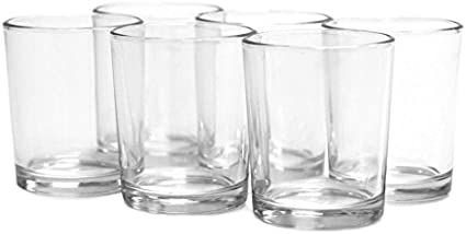 """2x Clear Glass Hexagonal Taper Candle Holders For Weddings Florists Caterers 4/"""""""