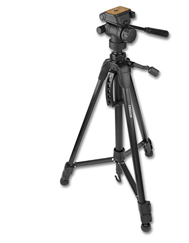 Carson TriForce 3-Way Pan-Head Tripod, Black, 58-Inch (TF-200)