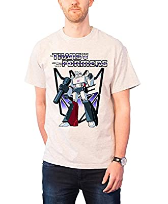 Transformers T Shirt Megatron Official Hasbro Mens White