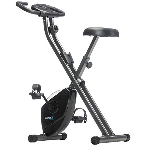 Skandika Unisex's Folding Exercise Bike, Black,...