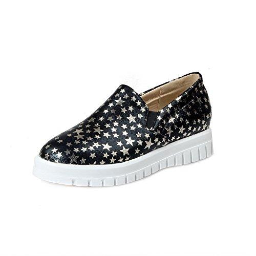 new BalaMasa Womens Platform Round-Toe No-Closure Urethane Oxfords Shoes big discount