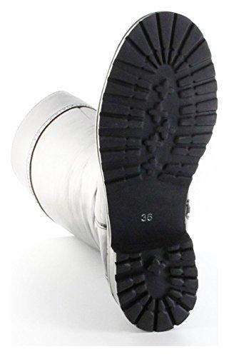 Schuhe Glattleder Schwarz Trachtenschuhe Olga Schwarz Bergheimer Stiefel Damen 1pgXR