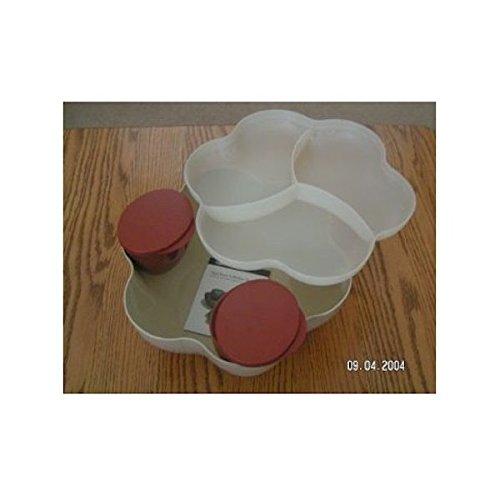 Tupperware Open House Chip N Dip Bowl in Latte/ Cinnamon