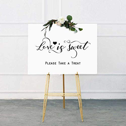 Love Is Sweet Sign Take A Treat Sign Rustic Chic Dessert Table Sign Wedding Refreshment Sign Candy Buffet Hand Lettered Sign 8x10 Inches No Frame